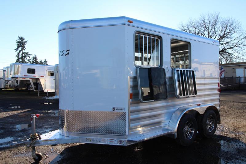 2018 Exiss Express CXF 2 Horse Trailer - Plexi inserts - Jail Bar Dividers