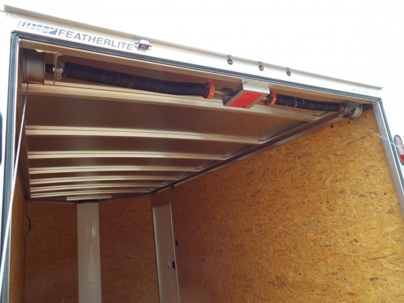 "2017 Featherlite 1610 Enclosed Cargo Trailer - All Aluminum - 7' Tall 6'7"" Wide- Sheet Black Siding - Rear Ramp Door"