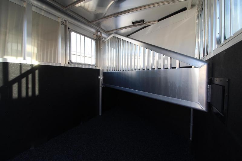 2018 Exiss Express 2 Horse Trailer W/ Jail Bar Dividers and Polylast Flooring