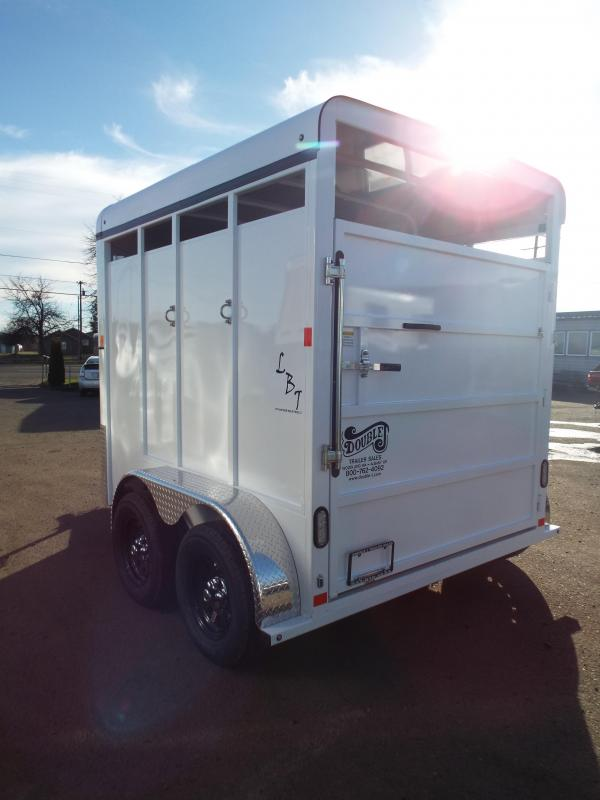 2018 Fabform LBT 2 Horse Trailer - Galvanized Steel - With Water Tank Saddle Stand - Spare Tire