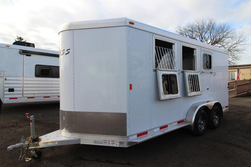 2018 Exiss 730 Horse Trailer - Swing out saddle rack - LARGE Tack Room - Polylast flooring