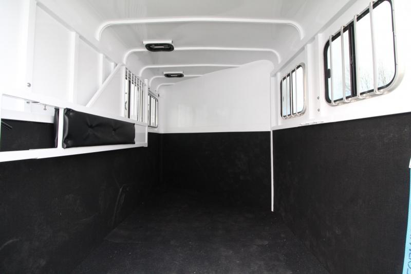 2018 Fabform Vision Deluxe 2 Horse - UPGRADED Double rear doors w/ windows - Windows on tail side