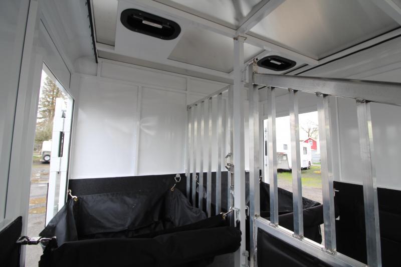 2018 Trails West Royale Plus 2 Horse Straight Load Warmblood Trailer - Steel Frame Aluminum Skin