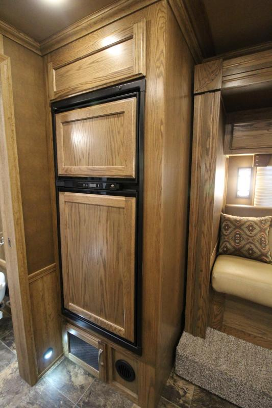 2016 Featherlite 9821 - 13ft Liberty Living quarters 4 Horse Trailer W/ Slide out - Hay Rack w/ Ladder - Still has Warranty