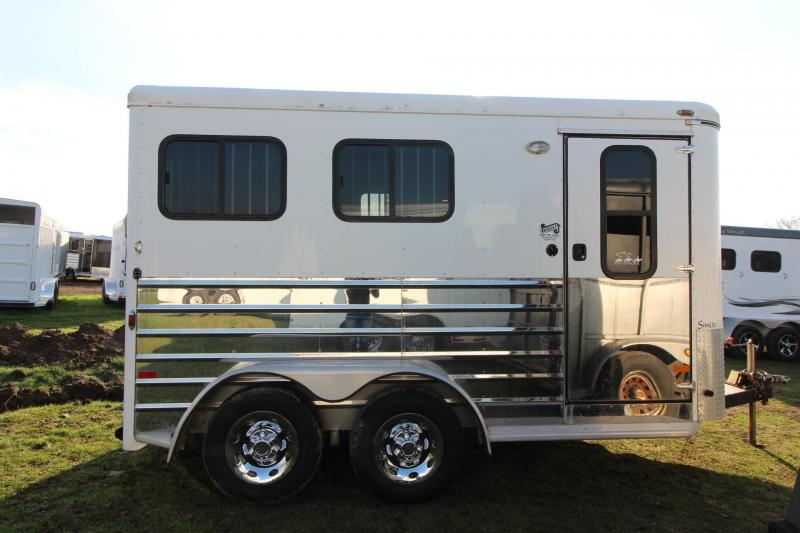 2007 Sundowner 727 - Collapsible Rear Tack -  2 Horse Trailer
