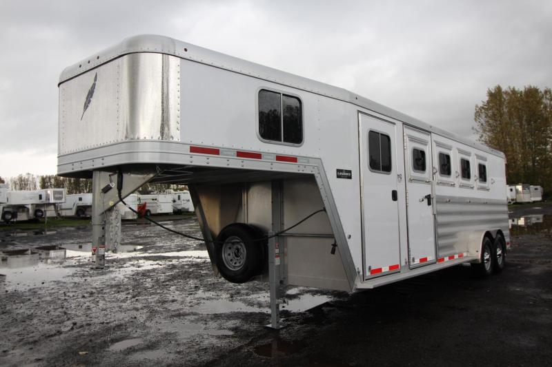 2018 Featherlite 8542 -Upgraded Windows - Rear Tack - 4 Horse Trailer
