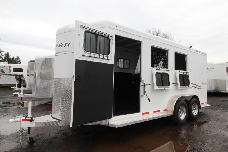 2018 Trails West Classic II - Warmblood 3 Horse Trailer - Aluminum Skin Steel Frame - Escape Door - Swing out Saddle Rack