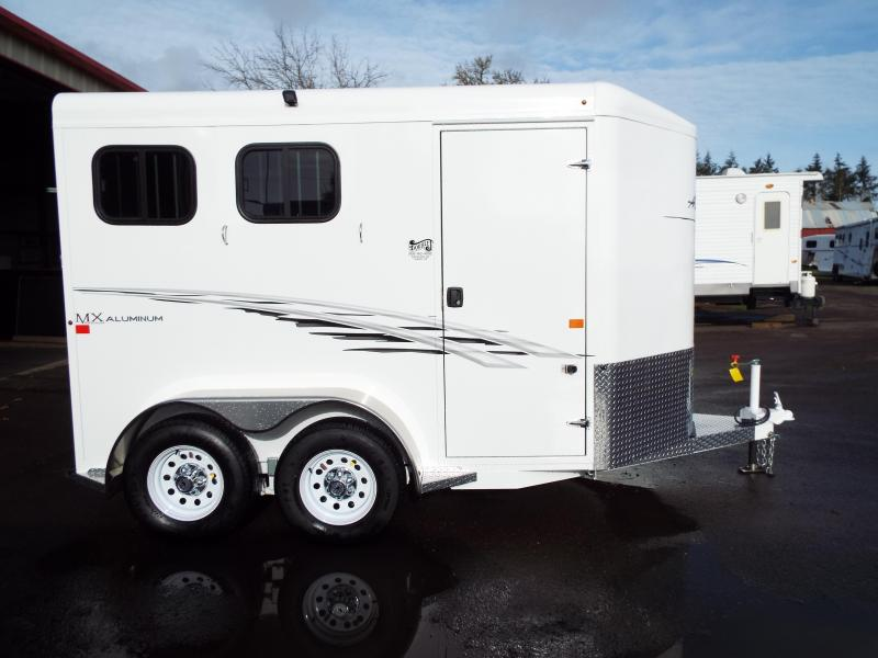 "2017 Trails West Adventure MX Aluminum Skin 7' Tall 6'9"" Wide 2 Horse Trailer"