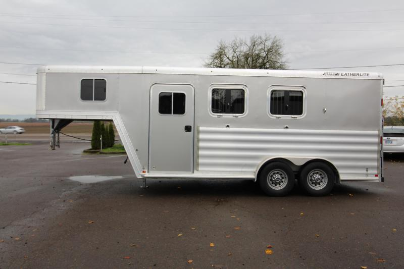 "2015 Featherlite 8541 2 Horse - ""Big Horse Trailer"" -  50"" Stalls - Rear Ramp"