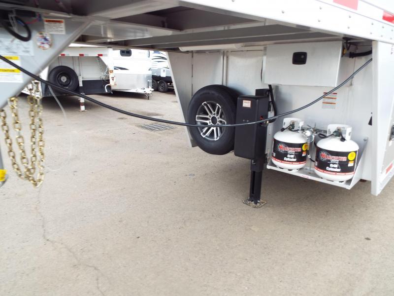 "2017 Exiss 7408 8'6"" SW LQ 4 Horse All Aluminum Trailer - 7'8"" Tall - Power Awning - Aluminum Wheels"