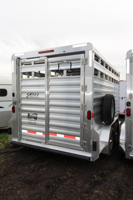 "2018 Exiss STK 713 Livestock Trailer - 7'2"" Tall - All Aluminum"