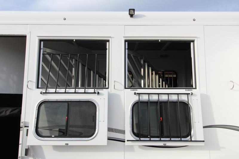 """2018 Trails West Classic Specialite 3 Horse - w/ 5x5 Comfort Package - Side Tack - Rear Broom Closet - 7'6"""" Tall - Escape Door"""