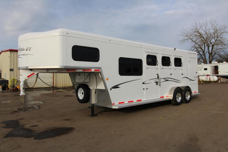 "2018 Trails West Classic Specialite 3 Horse - w/ 5x5 Comfort Package - Side Tack - Rear Broom Closet - 7'6"" Tall - Escape Door"