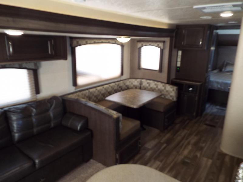 "2018 Forest River EVO 2600 - 26'5"" Box Length - w/ Slide Out with Dinette and Sofa - Arctic Package - Recliner Chairs - Birch Interior Decor"