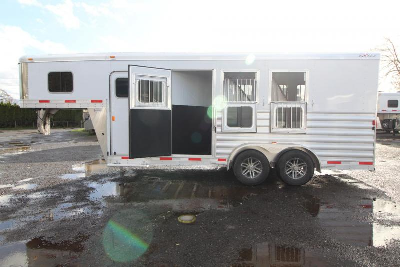 "2018 Exiss 7300 - 7' 6"" - Polylast Flooring - Escape Door - Lined & Insulated Ceiling - 3 Horse Trailer"