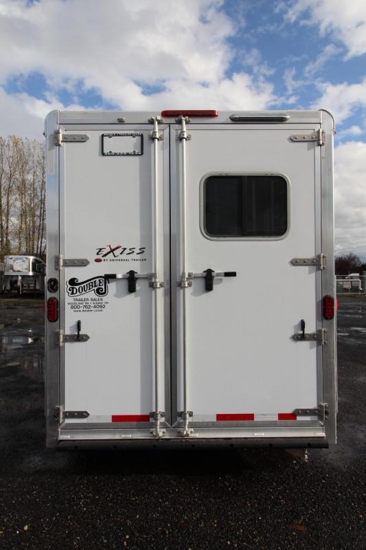 """2018 Exiss 7300 - 7' 6"""" - Polylast Flooring - Escape Door - Lined & Insulated Ceiling - 3 Horse Trailer"""