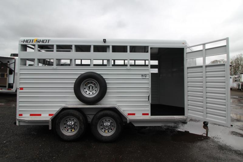 2018 Trails West Hot Shot 17ft Livestock Trailer W/ Center Gate