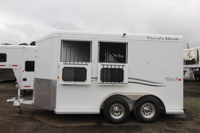 2018 Trails West Classic - Aluminum Skin Steel Frame - 2 Horse Trailer