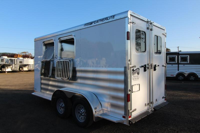 2018 Featherlite 9409  2 Horse Trailer w/ easy care flooring and Rear tack