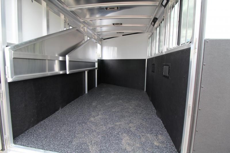 2017 Exiss Express XT - Polylast flooring - Upgraded Side Sheets 2 Horse Trailer