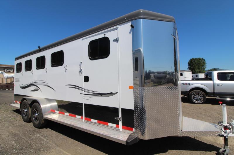 2017 Trails West Sierra Select Aluminum W/ Escape Door - Seamless Vacuum bonded walls - 4 Horse Trailer