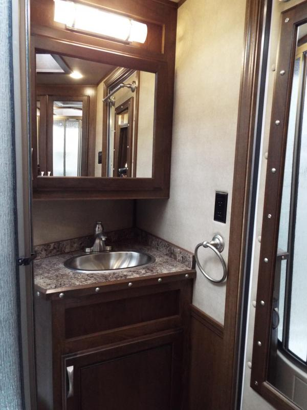 "2016 Featherlite 9821 - 3 Horse w/ Liberty 13' SW Interior 8' Wide 7'6"" Tall- Spacious Living Quarters - Real Wood Cabinetry w/ Lots of Storage REDUCED $2090"