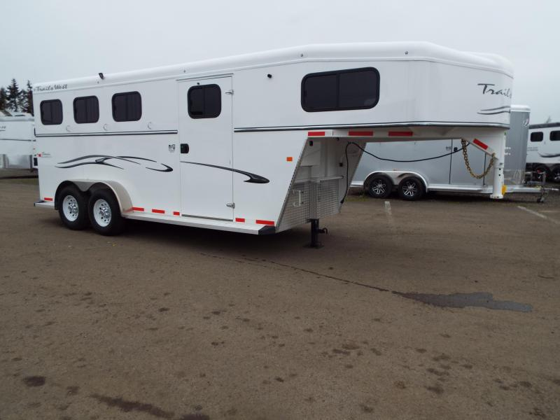 2017 Trails West Classic SpeciALite Aluminum Skin -  3 Horse Trailer w/ Convenience Pkg -Hot Wire Pkg - 7' Tall and Wide