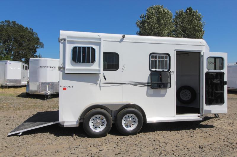 "2017 Trails West Royale SxST -PRICE REDUCED- 7'6"" Tall Flood Light Rubber Floor in Tack 2 Horse Trailer"