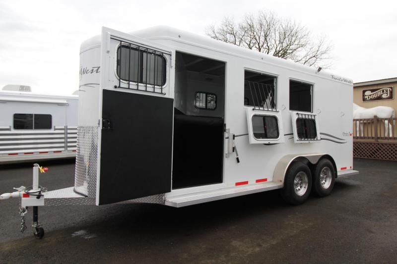 2018 Trails West Classic II Warmblood 3 Horse Trailer - Escape Door - Aluminum Skin Steel Frame - Swing out Saddle Rack