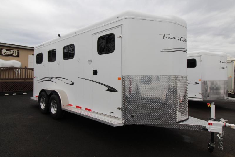2018 Trails West Classic II Warmblood 3 Horse Trailer - Escape Door - Aluminum Skin Steel Frame - Swing out Saddle Rack