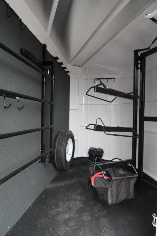 2018 Trails West Sierra II - Aluminum Skin Steel Frame - 2 Horse Trailer - 1ft Tack Room Extension