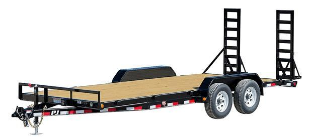 "2018 PJ Trailers 20' x 5"" Channel Equipment Trailer"