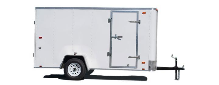 2020 Look Trailers EWLC5X8SI2 Flat Top Enclosed Cargo Trailer