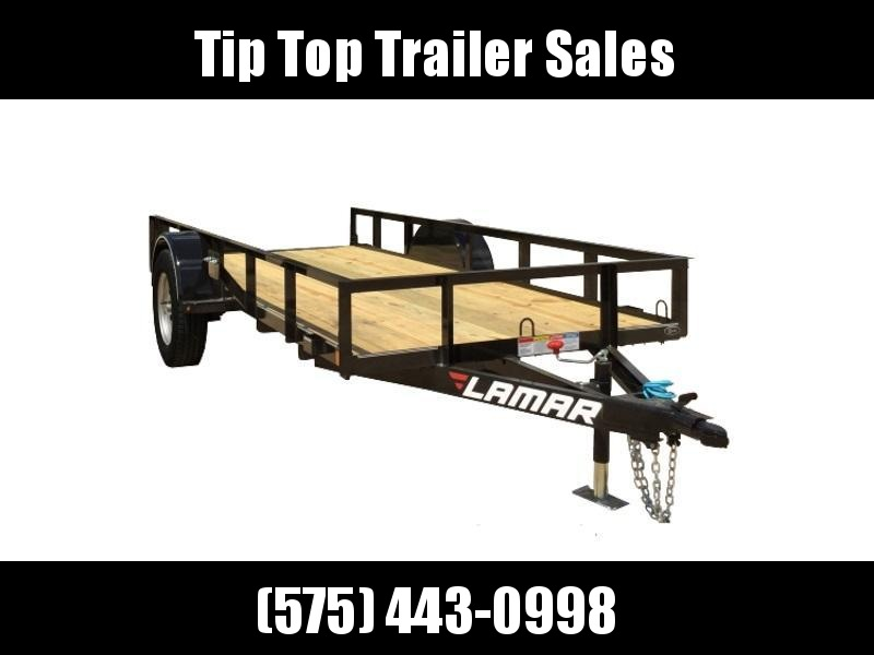 2019 Lamar Trailers 10' Single Axle Utility (UT) 3K Utility Trailer