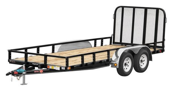 "2019 PJ Trailers 12'x77"" Tndm Axle Channel Utility Trailer"