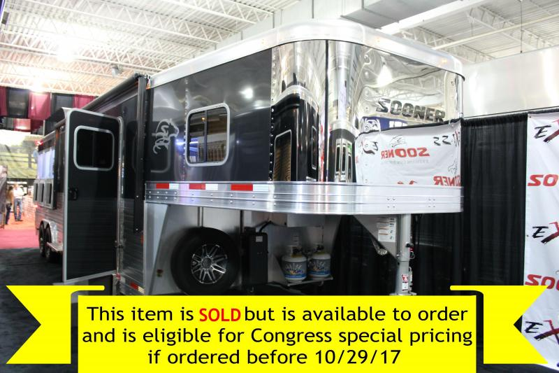 2018 Sooner Premier 3- Horse Slant Load Living Quarters Trailer