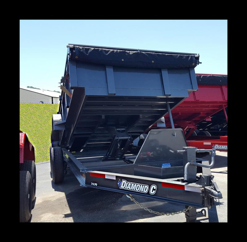 2017 Diamond C 24LPD-14X82 Heavy Duty Low Pro Dump Trailer