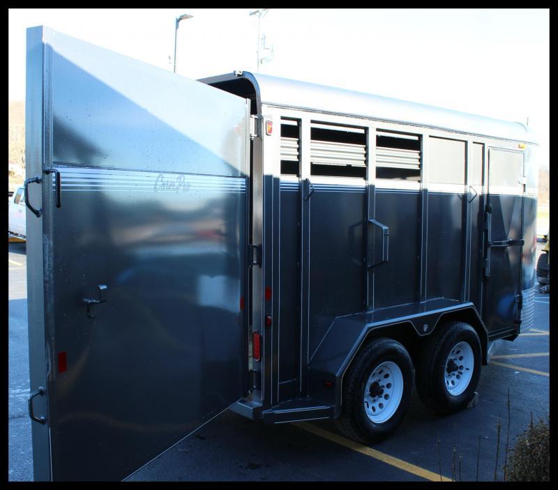 "2018 CornPro ""SB146S"" Livestock Trailer w/Horse Package"