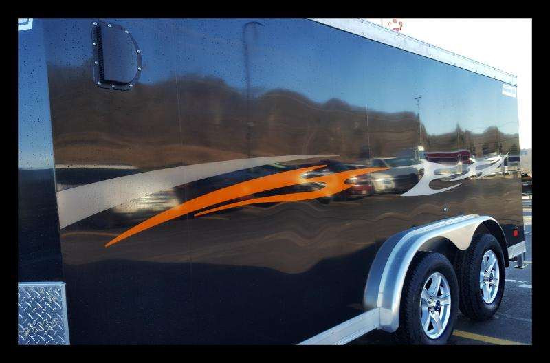 "2017 Haulmark 7'5X14' ""Low Profile"" Motorcycle Trailer"