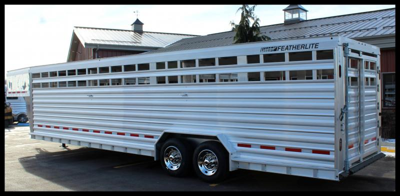 """2017 Featherlite 8127 30' """"Extreme Duty Edition"""" Livestock Trailer w/Stainless Nose"""