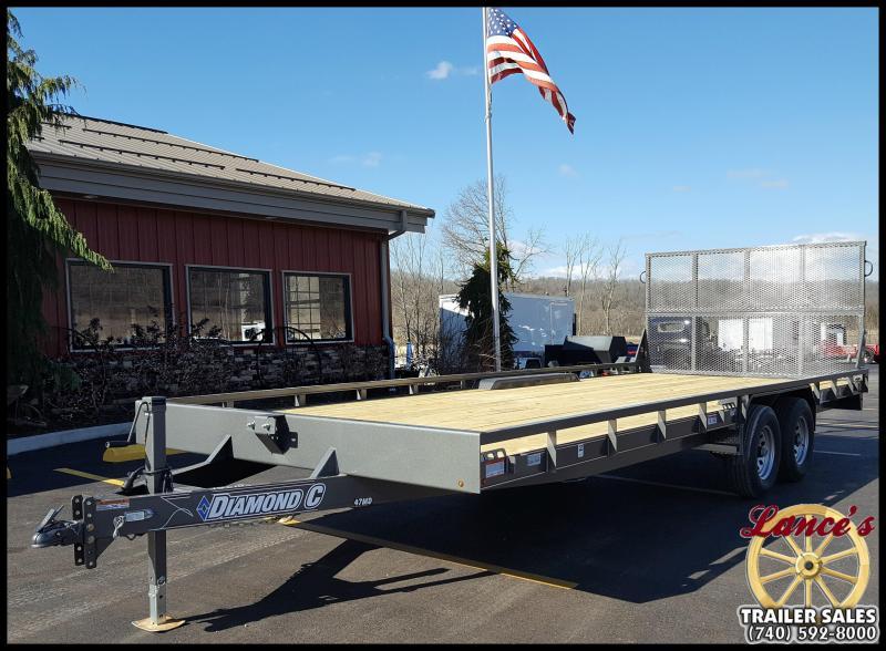 2017 Diamond C 47MD 22' Mid-Deck Equipment Trailer