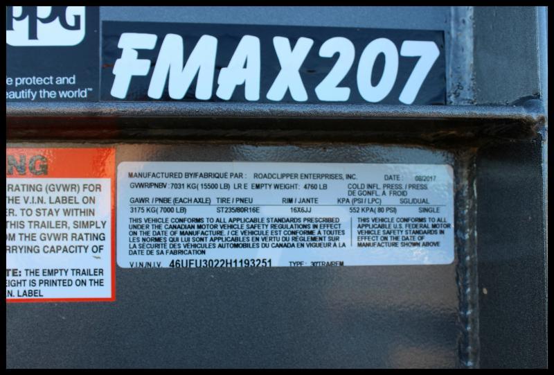 2017 Diamond C FMAX 207 30' Equipment Trailer w/Max Ramps