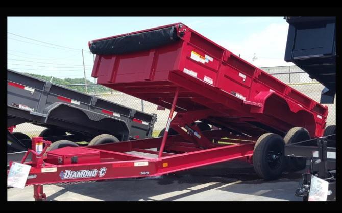 """2017 Diamond C 82""""x14' Heavy Duty Low Pro Dump Trailer"""