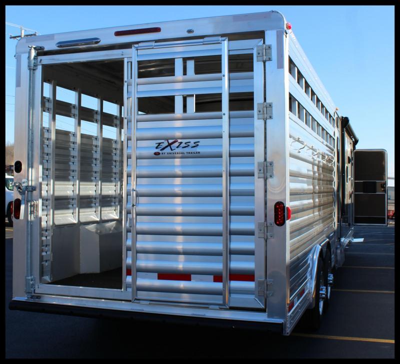 "2018 Exiss ""STC8034LQ"" Stock Combo Horse Trailer"