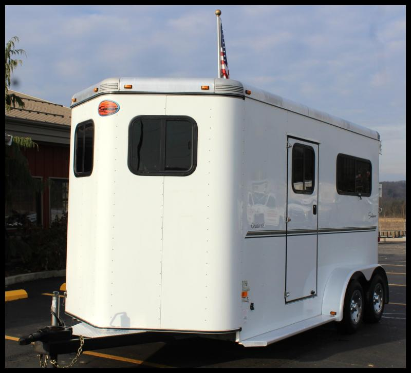 2012 Sundowner 2-Horse Straight Load Trailer w/Barn Doors/Ramp