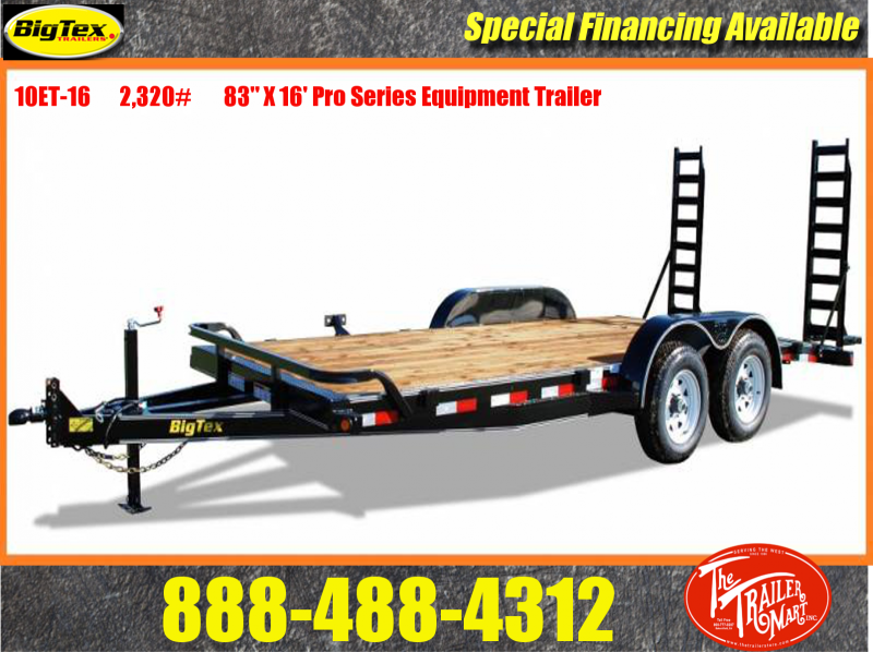 2015 Big Tex Trailers 10ET-16BK Toy Hauler