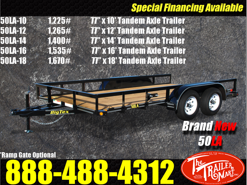 2016 Big Tex Trailers 50LA Tandem Axle Utility Trailer