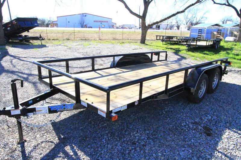 2016 Top Hat Trailers 16 BP Utility Flatbed Trailer