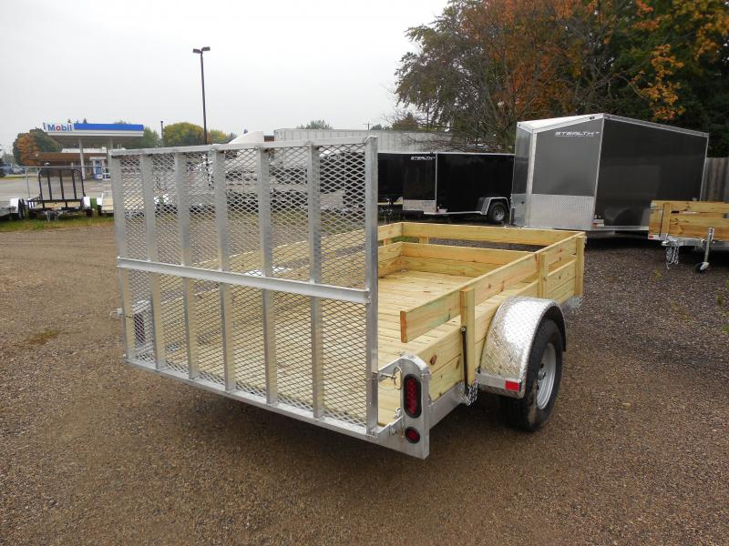 2017 Rugged Terrain Pro Pull 5x10 with Wood Sides Utility Trailer