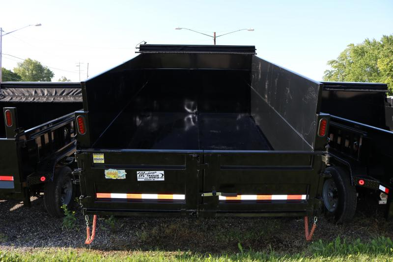 2018 Quality Steel and Aluminum 83X12 Low Pro High Side Dump Trailer